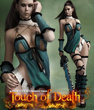 Touch of Death for Genesis 3 Female(s) 3D Figure Essentials Pretty3D