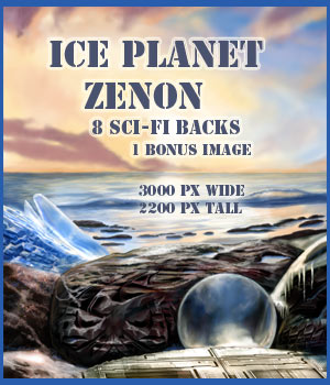 Ice Planet Zenon SF Backgrounds 2D Graphics lwperkins