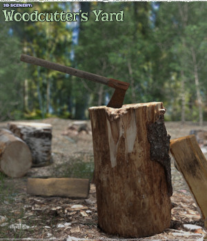 Photo Props: Woodcutter's Yard - Extended License - gaming - ShaaraMuse3D