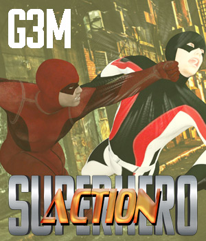 SuperHero Action for G3M Volume 1 3D Figure Assets GriffinFX