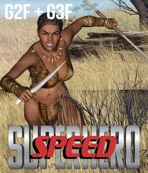 SuperHero Speed for G2F & G3F Volume 1  3D Figure Assets GriffinFX