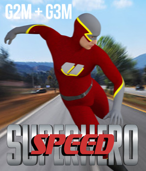 SuperHero Speed for G2M & G3M Volume 1 3D Figure Assets GriffinFX