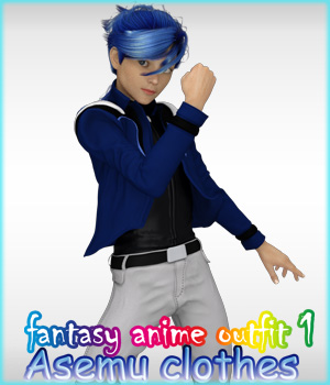 fantasy-anime-outfit 1 _ Asemu clothes_ for G2 & G3 3D Figure Essentials muwawya