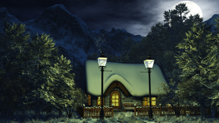 Matte Paintings Christmas