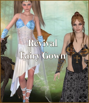 Revival for Fairy Gown 3D Figure Assets JudibugDesigns