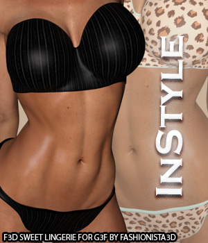 InStyle - F3D-Sweet Lingerie for Genesis 3 Female(s)