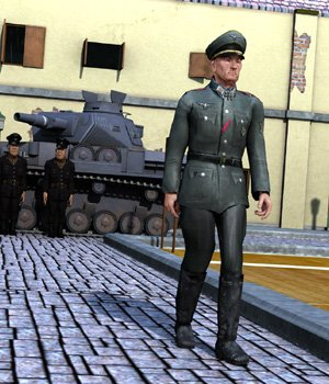 German Officer M4 for Poser 3D Figure Assets VanishingPoint