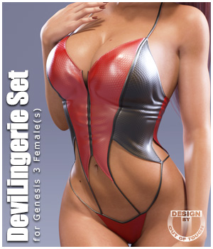 DeviLingerie for Genesis 3 Females 3D Figure Essentials outoftouch