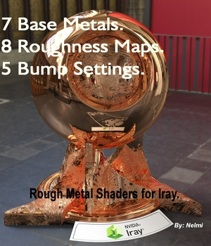 Rough Metal Iray Shaders 3D Figure Assets nelmi