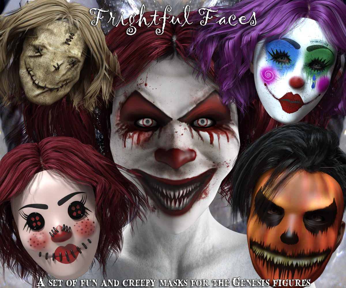 Frightful Faces - Halloween Mask Props