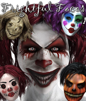 Frightful Faces - Mask Props 3D Figure Essentials 3D Models RPublishing