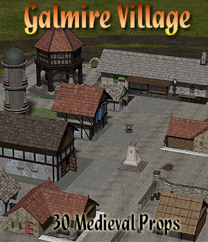 Galmire Medieval Village by Simon-3D