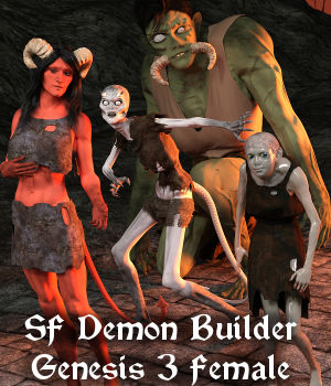SF Demon Builder Genesis 3 Female 3D Figure Assets SickleYield