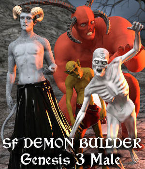 SF Demon Builder Genesis 3 Male 3D Figure Assets SickleYield