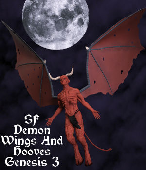 SF Demon Builder Wings And Hooves Add-On 3D Figure Assets 3D Models SickleYield