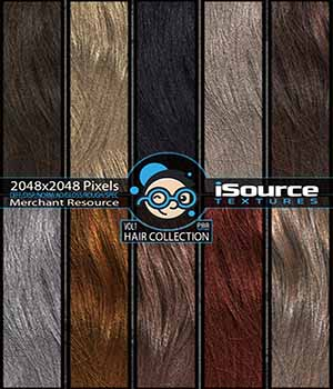 Hair Collection - Vol1 (PBR Textures) Merchant Resource