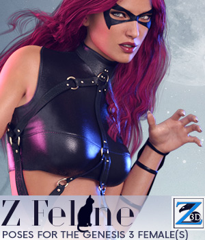 Z Feline - Poses for the Genesis 3 Female(s) 3D Figure Assets Zeddicuss