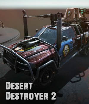 Desert Destroyer 2. 3D Models Extended Licenses 3D Game Models : OBJ : FBX dexsoft-games