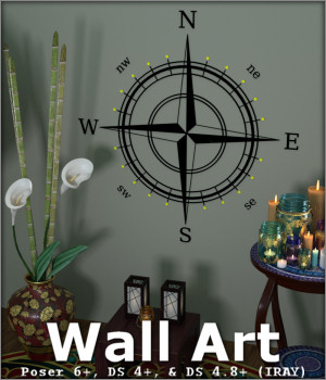 Wall Art for Poser and Daz Studio 3D Models -Wolfie-