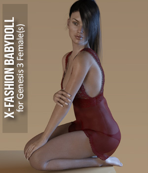 Fashion Babydoll for Genesis 3 Females 3D Figure Essentials xtrart-3d