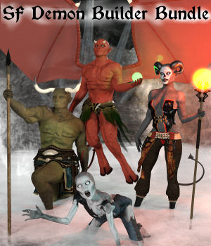 SF Demon Builder Bundle Genesis 3 Iray 3D Figure Assets SickleYield