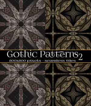 Gothic Patterns 2 2D Graphics Merchant Resources antje