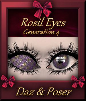 Botany : Rosil Eyes for Daz and Poser 3D Figure Essentials farfadelf