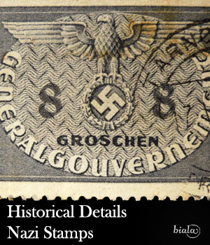 Historical Details Nazi Stamps 2D Graphics biala