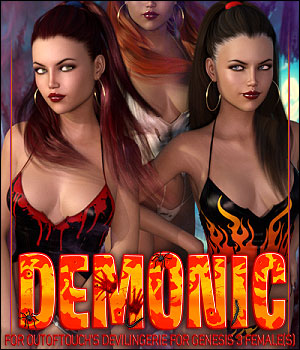 Demonic for DeviLingerie 3D Figure Assets ShanasSoulmate