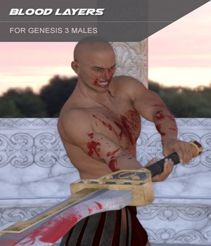 Blood Layers for Genesis 3 Males and Merchant Resource 3D Figure Essentials Merchant Resources SF-Design