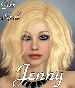Get Real for Jenny hair 3D Figure Assets chrislenn