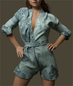 Comfy Romper for Genesis 3 Female(s)  3D Figure Assets Toyen