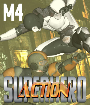 SuperHero Action for M4 Volume 1 3D Figure Assets GriffinFX