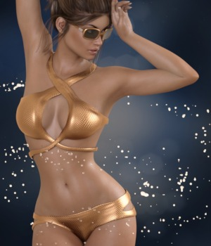 3DA Waverly Swim for G3F 3D Figure Assets 3-DArena