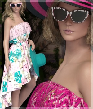 7th Ave: HC Beach Dress 3D Figure Essentials 3-DArena