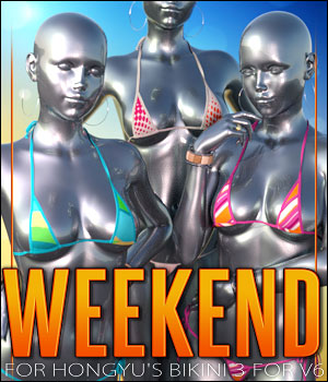 Weekend for Hongyu's Bikini 3 3D Figure Assets ShanasSoulmate