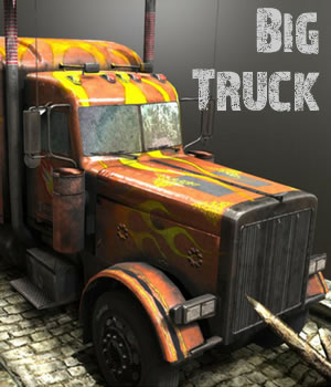 Big Truck Game model 3D Models Extended Licenses 3D Game Models : OBJ : FBX dexsoft-games