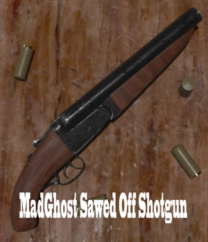 MadGhost Sawed Off Shotgun 3D Figure Assets 3D Models ghostman