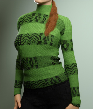 Warm Turtleneck for Genesis 3 Females 3D Figure Essentials Toyen