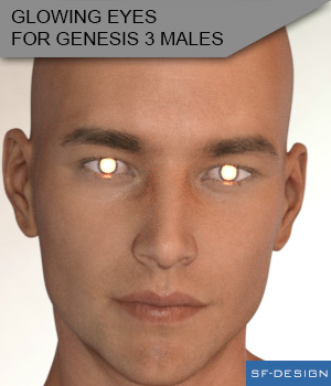 Glowing Eyes for Genesis 3 Males 3D Figure Essentials SF-Design