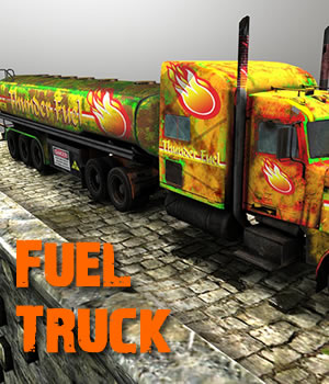 Fuel Truck game model 3D Models Extended Licenses 3D Game Models : OBJ : FBX dexsoft-games