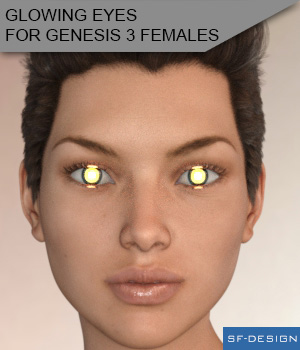 Glowing Eyes for Genesis 3 Females 3D Figure Assets SF-Design