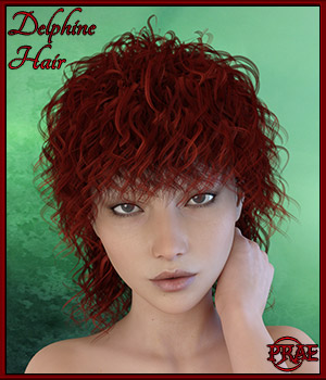 Prae-Delphine Hair for G3 3D Figure Assets prae