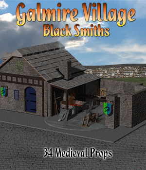 Galmire Blacksmith 3D Models Simon-3D