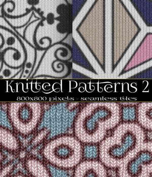 MR-Knitted Textures 2 2D Graphics Merchant Resources antje