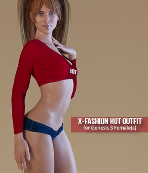 Fashion Hot Outfit for Genesis 3 Females 3D Figure Assets xtrart-3d