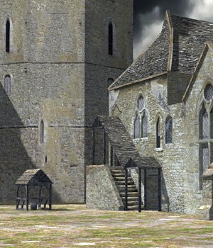Fortified Manor (for Poser) 3D Models VanishingPoint