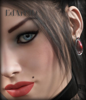 Gothic Elegancia Morphing Earrings AddOn for G3F 3D Figure Essentials EdArt3D