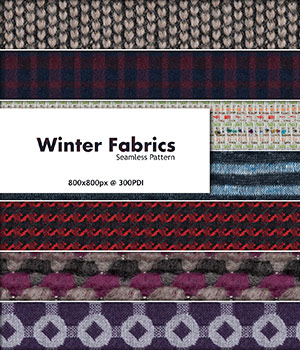Winter Fabrics :: Seamless Pattern 2D Merchant Resources Cyrax3D