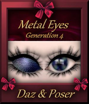 Botany : Metal Eyes for Daz and Poser 3D Figure Assets farfadelf